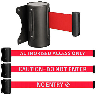 Wall Mounted Security/safety Crowd Control Barrier Door Warning Sign Pull Ribbon • 8.99£