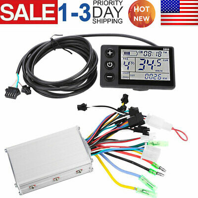 $43.99 • Buy Electric Brushless Controller LCD Display Panel For Bicycle Scooter Motor 36-48V