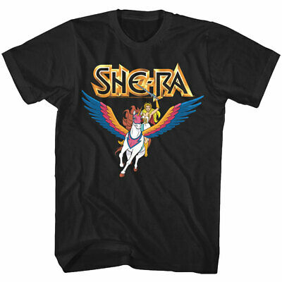 $21.24 • Buy Masters Of The Universe She-Ra Men's T-Shirt Riding Swiftwind Unicorn OFFICIAL
