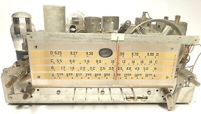 $ CDN76.02 • Buy Vintage SILVERTONE R-1591 TABLETOP RADIO Part:  UNTESTED CHASSIS W/ All 9 TUBES