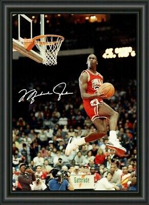 AU9.95 • Buy Michael Jordan Signed - Chicago Bulls Basketball Hof 3 - A4 Photo Poster Print