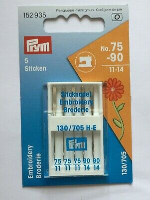 PRYM Sewing Machine Needles, Stretch, Embroidery, Microtex, Jeans SCHMETZ • 5.69£