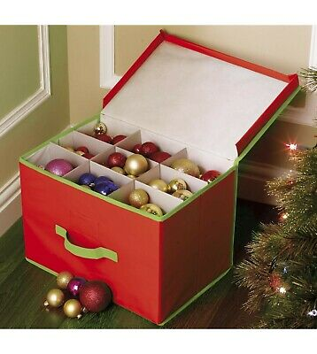 New Christmas Bauble / Tree Storage Bag / Box Red Approx 11 X 11 X 15 • 8.99£