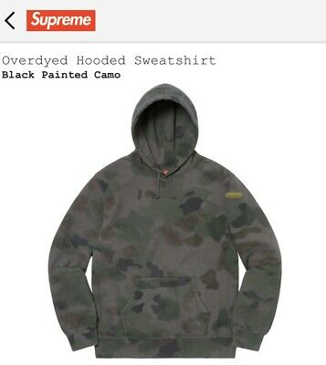 $ CDN299.63 • Buy Supreme Overdyed Hoodie Black Painted Camo Small SS20 Brand New Dead Stock