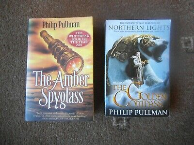 PHILIP PULLMAN 2 X PB Book DARK MATERIALS Amber Spyglass & Northern Lights • 1.99£
