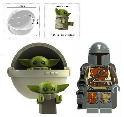 $9 • Buy Baby Yoda & Carriage B + Mandalorian Minifigure Figure Usa Seller New In Package