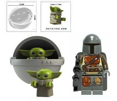 $9 • Buy Baby Yoda & Carriage A + Mandalorian Minifigure Figure Usa Seller New In Package