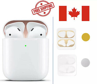 $ CDN4.99 • Buy Metal Dust Guard Protective Film Sticker Cover For Accessories Airpod 1&2 Gen