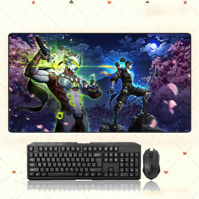 AU28.42 • Buy GAME Overwatch Genji Extra Large Mouse Pad Free Shipping(31.5'' *15.7'')
