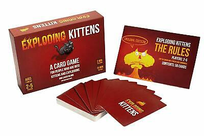 AU19.98 • Buy Exploding Kittens Cards Game Original Edition Party Family Game New