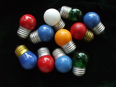 $ CDN27.24 • Buy Vintage Christmas Lights Bulbs GE Standard Base For Blow Molds Large Candles Etc