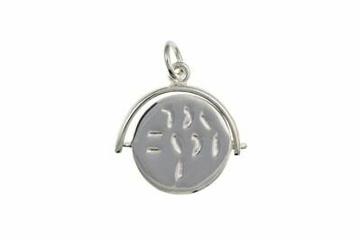 Sterling Silver I Love You Spinner Pendant Charm • 12.25£