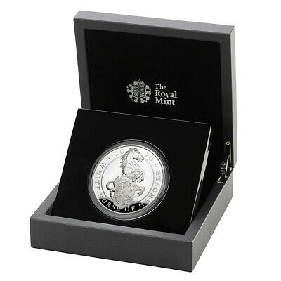 $ CDN850 • Buy 2020 UK 5 Oz Queen's Beasts White Horse Of Hanover Silver Proof Coin