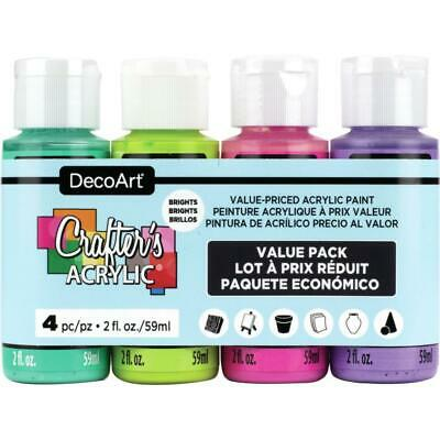 DecoArt Crafter's Acrylic Paint - X4 Value Pack - Brights • 6.99£