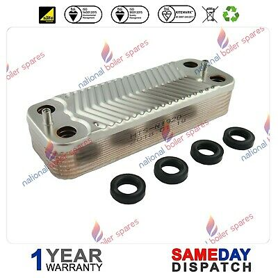 £40 • Buy Chaffoteaux Britony Combi 80 100 Dhw Plate Heat Exchanger 61011164
