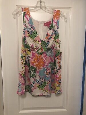 $24.99 • Buy NWT LILLY PULITZER Or Target Tunic Sleeveless Top NOSEY POSEY Floral Size Medium
