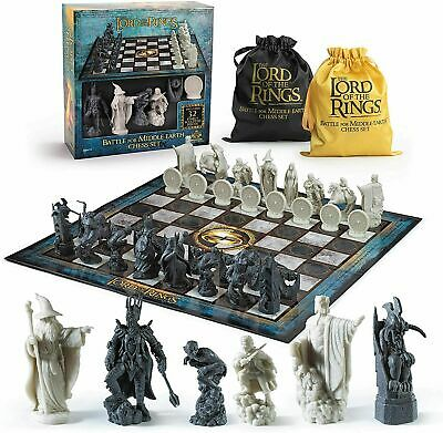 £55.45 • Buy Official Lord Of The Rings Lotr Collectors Full Size Chess Set New Board Game