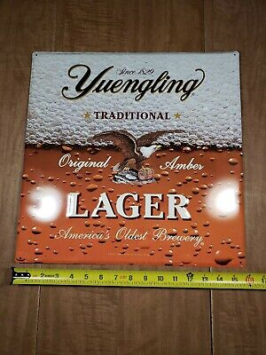 $35 • Buy Yuengling Lager 2010 Yuengling & Sons 16×16 Metal Beer Advertisement Sign