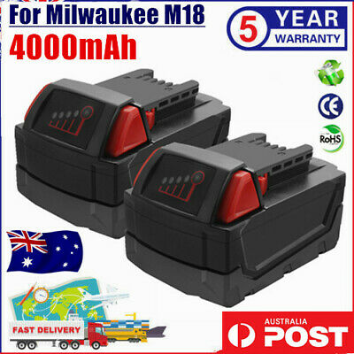 AU51.99 • Buy 2× For Milwaukee M18 XC 4.0AH LITHIUM ION 18V Battery 48-11-1852 48-11-1828 Tool