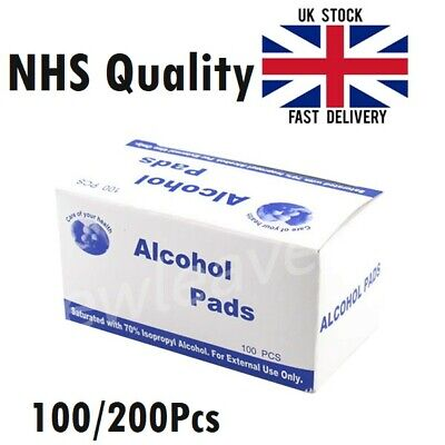 Alcohol 70% Swabs Antiseptic Cleaning Wipes Pads Tattoo Nail Polish CPU Wound  • 3.89£