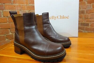 See By Chloé Aw19 Dark Brown Chunky Chelsea Boots. STUNNING. Worn Twice £345.00  • 245£