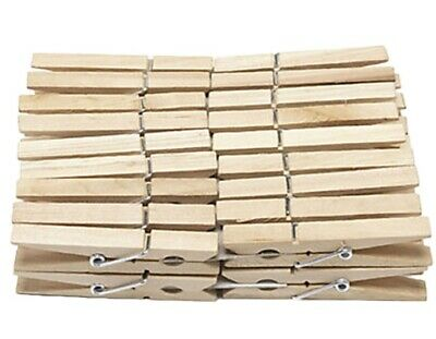 Wooden Clothes Pegs Clips Pins Washing Line Airer Dry Line Wood Peg Outdoor DIY • 2.99£