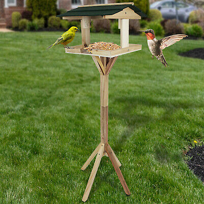 £18.99 • Buy Bird House Feeder Feeding Garden Wooden Table Traditional Free Standing Station