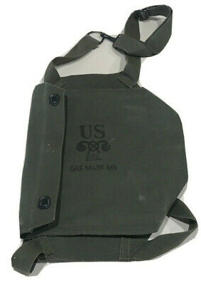 $14.99 • Buy Vintage WWII WW2 US MILITARY FIELD PROTECTIVE GAS MASK BAG M9 ML POUCH W/ Strap