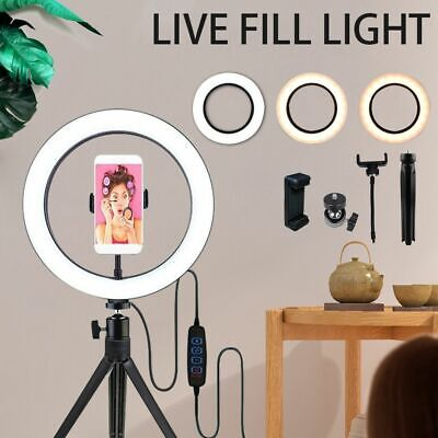 AU185.56 • Buy 19  5500K Dimmable Diva LED Ring Light Diffuser With Stand Make Up Studio Video