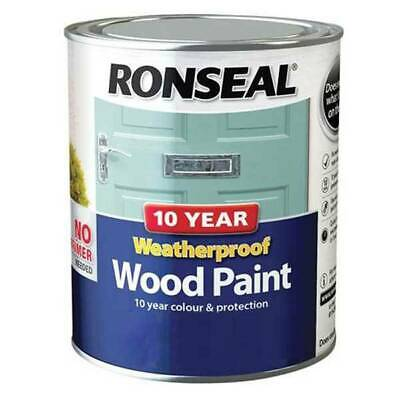 Ronseal 10 Year Weatherproof Wood Paint Gloss/Satin White/Colours 750ml Or 2.5lt • 16.95£
