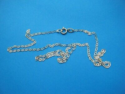 9ct Gold Fine Trace Chain 16 Inches Long.. Bright Cut, Highly Polished Finish • 18.89£