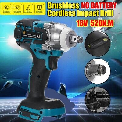Cordless Impact Wrench For Makita DTW285Z Brushless 1/2  18V Li-ion Body Only UK • 38.99£