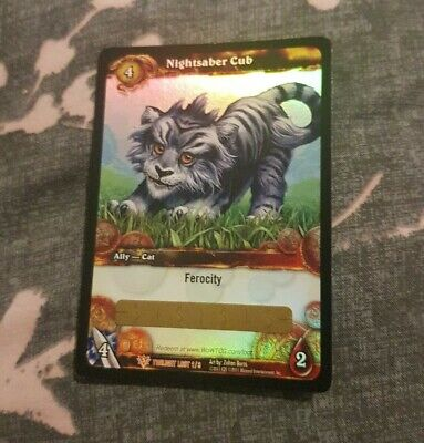 WoW Warcraft Card - Nightsaber Cub LOOT Card - Ccg Tcg - Unscratched ⭐⭐⭐⭐⭐ • 79.99£