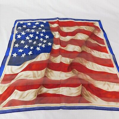 £7.33 • Buy American Flag Collection XIIX Bandana Mini Square Scarf Red White Blue 20  X 20