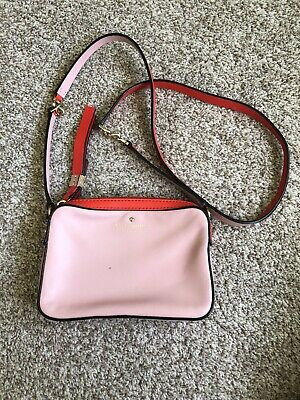 $ CDN99 • Buy Kate Spade Coral Pink Leather Crossbody Bag