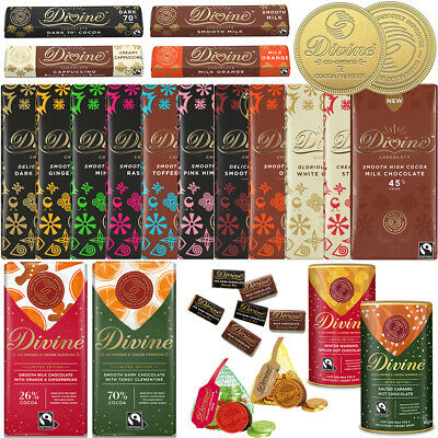 Divine Fairtrade Chocolates - Pick N Mix - Huge Selection To Choose From • 6£