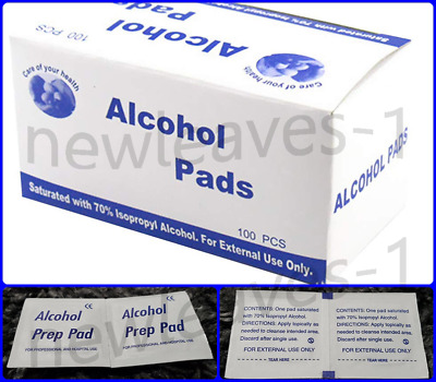 100x 70% Isopropyl Alcohol Swabs Wipes Pads CPU Tattoo Nails Piercing NHS Grade • 3.79£