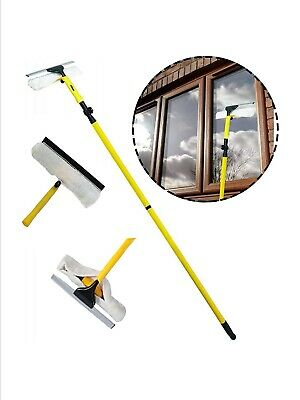 Telescopic Window Cleaner Kit 3.5m Removable Squeegee - Window Cleaning Supplies • 15.99£