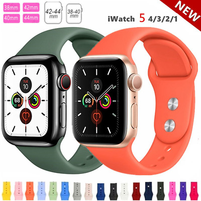 AU6.49 • Buy For Apple Watch IWatch Series 12345 Silicone Replacement Strap Band 38 40 42 44m