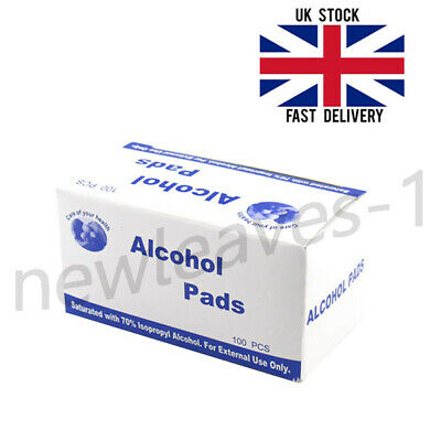 Hot 100x Alcohol Swabs Wipes Antiseptic Sterile Skin Nails Tattoo Pre-Injection • 4£