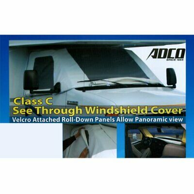$85.34 • Buy Adco 2509 RV Windshield Cover See Through Windshield Covers With Roll Down