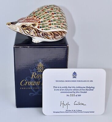 £393.50 • Buy RARE! Boxed Royal Crown Derby Paperweight ASHBOURNE HEDGEHOG Ltd Edn Of 500