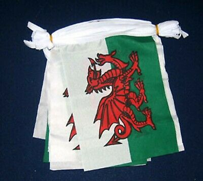 WALES (WELSH DRAGON) -Giant Polyester Bunting -18m (30 Large Flags) Each 18 X12  • 16.99£