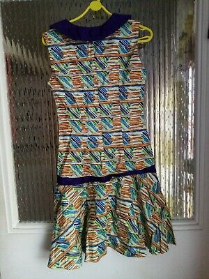 Preowened Sleeveless African Girls Dress With A Flare Bottom For All Occasions  • 12.99£