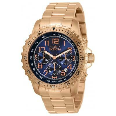 Invicta Men's Watch Specialty Chronograph Blue Dial Rose Gold Bracelet 32315 • 56.37£