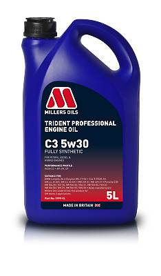 $ CDN37.47 • Buy Millers Oils Trident Longlife 5W30 Fully Synthetic Performance Engine Oil - 5 L