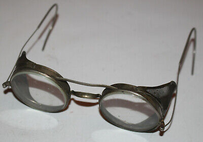 $24.99 • Buy Antique Driving Goggles Glasses Metal Glass SES Co. Vintage As Is Safety