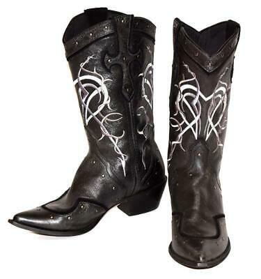 $39.99 • Buy DURANGO Crush Embroidered Black Leather Rocker Cowgirl Western Cross Boots Sz 9M