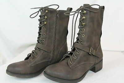 $40 • Buy American Rag Areighnp Mocha Combat Boots Size 9