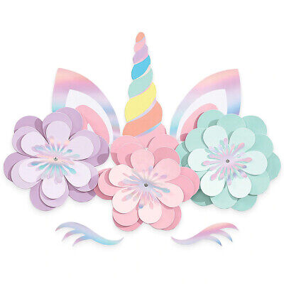 AU18.49 • Buy Magical Rainbow Unicorn Party Supplies Birthday Wall Decorating Kit Girls Party